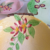 Beautiful, Carlton ware, yellow, apple blossom comport dish!