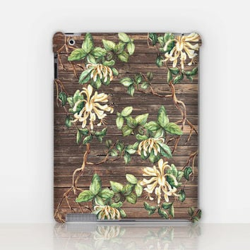 Floral Wood Print iPad Case For - iPad 2, iPad 3, iPad 4 and iPad Mini, Fine Art Hard Case