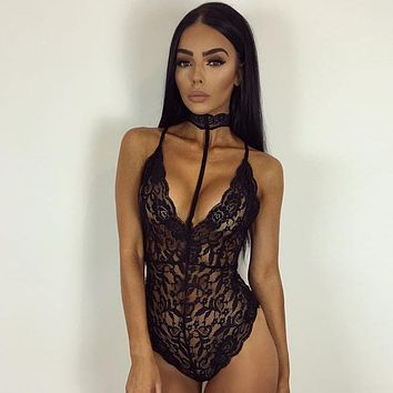 Hot Deal Cute On Sale Summer Women's Fashion Sexy Slim Lace One-piece Exotic Lingerie [9070618499]