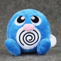 12cm Poliwag Poliwhirl Soft Stuffed Plush Toy Animal Doll for Kids