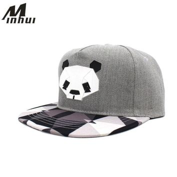 Fashion Plaid Hats Hip Hop Bone Snapback Men Women Baseball Caps Black White