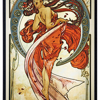 Arts Dance Lady Art Nouveau Stained Glass by Mucha 12H