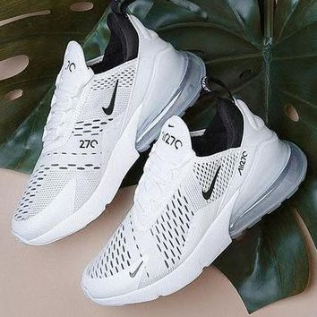 NIKE AIR MAX 270 Hot Sale Fashion Casual Sports Sneaker White