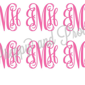 Monogram Sticker, Laptop Monogram, Vinyl Monogram, Car Monogram, Personalized, Water Bottle Decal, Cooler Monogram, DIY