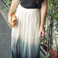 Topshop ombre dip dye maxi fashion skirt from urbanboutique07