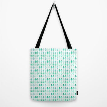 """Robin's Egg Blue Tote Bag - choice of size 13"""", 16"""" or 18"""" square tote bag with blue watercolor Robin's egg design"""