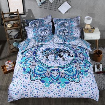 Cool India 3D elephant comforter bedding sets printing Luxury Bohemian duvet cover set queen king Size bed sets  bed line 3 PcsAT_93_12
