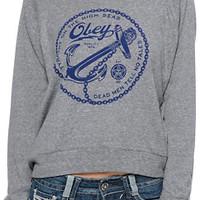 Obey Tyranny On the High Seas Grey Raglan Top