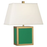 Jonathan Adler Barcelona Accent Lamp in Emerald Green design by Robert Abbey