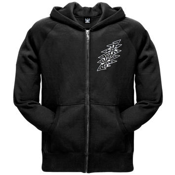 Grateful Dead - Black & White Calaveras Black Adult Zip Hoodie