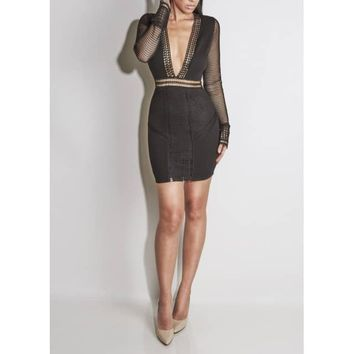 Black Santana Woven Dress - JLUX Label