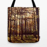 Between the trees Tote Bag by Yasmina Baggili