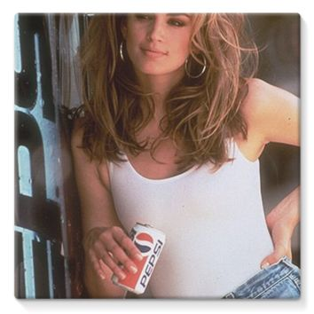 Cindy Crawford Pepsi *online exclusive* stretched eco-canvas