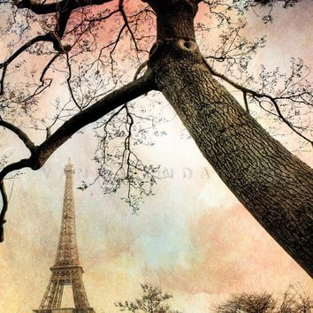 Paris Photography France Eiffel Tower in the by PhotographyDream