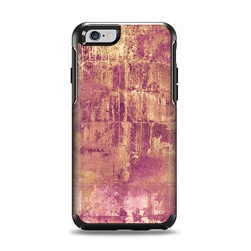 The Pink Paint Splattered Brick Wall Apple iPhone 6 Otterbox Symmetry Case Skin Set