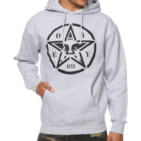 Obey Star Stencil Heather Grey Pullover Hoodie at Zumiez : PDP