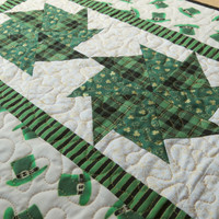 St Patrick's Day Quilted Table Runner 421