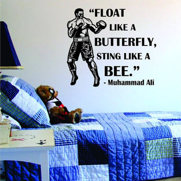 Muhammad Ali Float Like A Butterfly Sting Like A Bee Version 1 Design Sports Decal Sticker Wall Vinyl