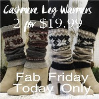 CASHMERE leg warmers - 2 pairs SALE