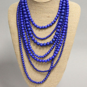 Beaded Necklace – Blue