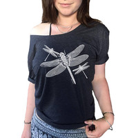Dragonfly T Shirt Dragonflies Minimalist Butterfly Earth Yoga Meditation Butterfly Tshirt sShirt Off Shoulder Vacation Mode Shirt Made USA