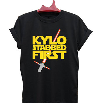 Kylo Stabbed First Star Wars T-Shirt Men, Women and Youth size S-2XL