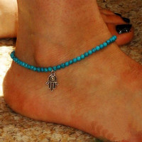 Foot Jewelry Anklet Boho Beads Hamsa Fatima Anklets Foot Chain Beach Anklets for women CF