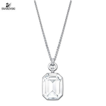 Swarovski Clear Crystal Pendant Necklace ACCESS Rhodium #5020061