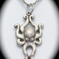 Octopus Pendant Silver Plated