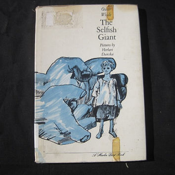 1964 The Selfish Giant by Oscar Wilde Illustrated by Herbert Danska Ex-Library Copy