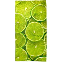 Lime Limes Citrus All Over Beach Towel