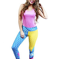 NuvoFit Women's Sportswear 2 piece Gym Workout Outfit Tank Top and Fitted Yoga Legging Pink