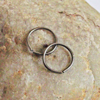 Cartilage Piercing, Mini Hoop Earrings, Niobium, Nose Ring, 20 Gauge, 8mm