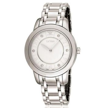 LeVian Stainless Steel Watch Diamond Watch