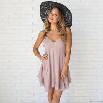 Sweetheart Dress In Mauve