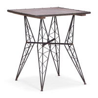 Heavy Metal Bistro Table Rustic Black