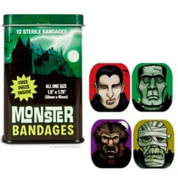Accoutrements Monster Band Aids | Kitsch Unique Gift Joke Novelty Bandages