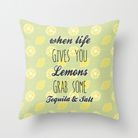 When Life Gives You Lemons Throw Pillow by Pati Designs