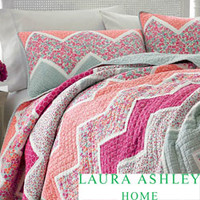 Laura Ashley 'Ainsley' Cotton Quilt and Optional Sham Separates