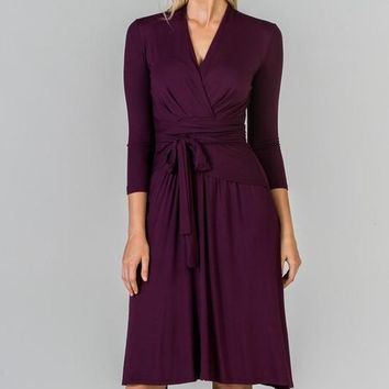 """""""Alex"""" Midi Wrap Dress - Available in 5 Colors"""