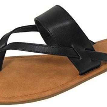 Cambridge Select Womens Thong SlipOn FlipFlop Strappy Flat Slide Sandal