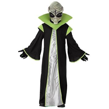 Child Deluxe All-powerful Leader Out Space Scary Alien Costume For Kids Let Him Spead Terror This Halloween