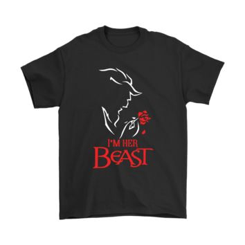 PEAPV4S I'm Her Beast She Is My Beauty Disney Beauty And The Beast Shirts