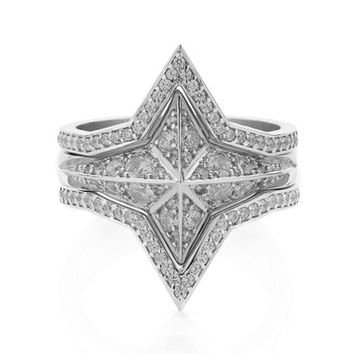 Meadowlark Set of 3 Diamond Pavé Star Rings (Nordstrom Exclusive) | Nordstrom