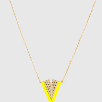 Leo Necklace - Neon Yellow - One Size / Neon Yellow