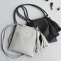 Korean Shoulder Bags Bags Tassels Alphabet Messenger Bags [4915813828]