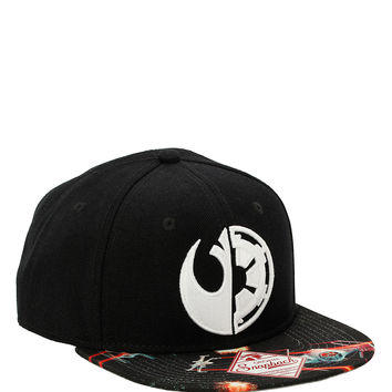 Star Wars Split Logo Snapback Hat