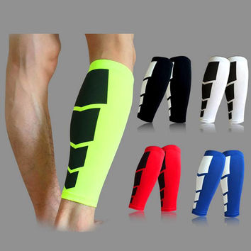 Women Men 1Pc Leg Warmers Calf Support Shin Guard Base Layer Compression Running Soccer Football Basketball Leg Sleeves Safety