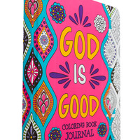 SoulScripts, God Is Good Coloring Book Journal, Hardcover, 10 x 7 3/4 inches | Coloring for Adults | Gifts & Décor | Mardel
