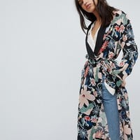 Lily and Lionel Long Kimono Jacket in Vintage Floral at asos.com